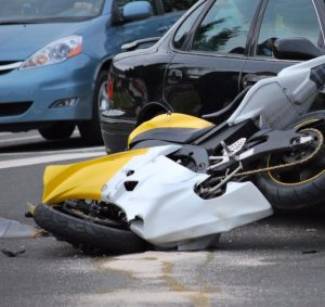 motorcycle accident on a public street